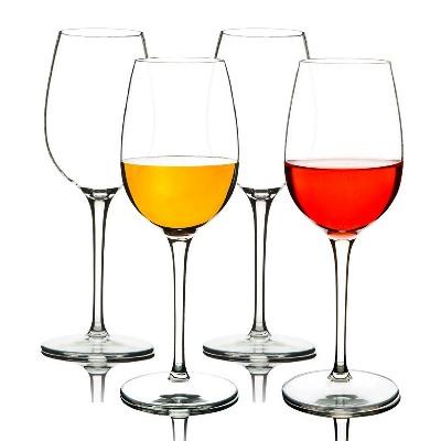 Bicchieri di Vino Infrangibili 355 ml Set da 4 Tritan-plastica
