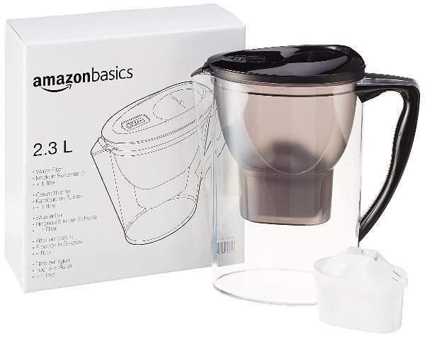 AmazonBasics - Caraffa filtrante per l'acqua, 2.3 L