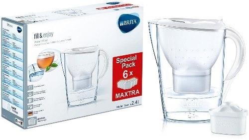 Brita Caraffa filtrante con 6 filtri inclusi Marella Cool