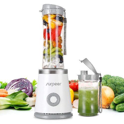 Mini Frullatore per Frullati e Smoothie,SURPEER Blender Juicer con 2 Bottiglia Portatile