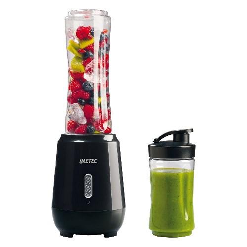 Imetec PB 100 Personal Blender, Mini Frullatore per Frullati e Smoothies con 2 Bottiglie Take-Away in Tritan