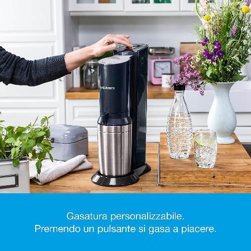 Sodastream Crystal Gasatore d'Acqua, Acciaio Satinato, Titan,
