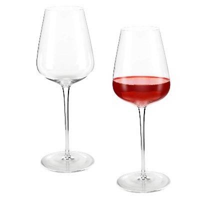 Incutex set di 2 grandi bicchieri calici da vino soffiati a bocca cristallo giganti XXL 700ml
