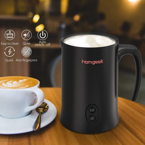 Homgeek Montalatte Elettrico, Montalatte Automatico Professionale per liquidi