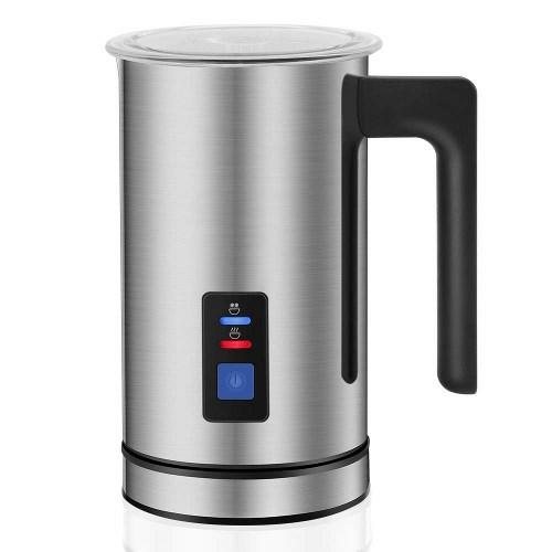 KYG Montalatte Elettrico Automatico Professionale in Acciaio Inossidabile Funzionamento Silenzioso Adatto per Latte Caldo o Freddo Rivestimento Antiaderante