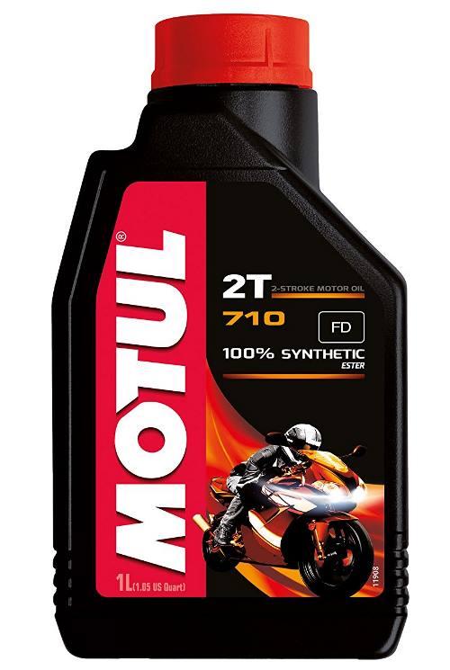 olio motore moto due tempi motul 710