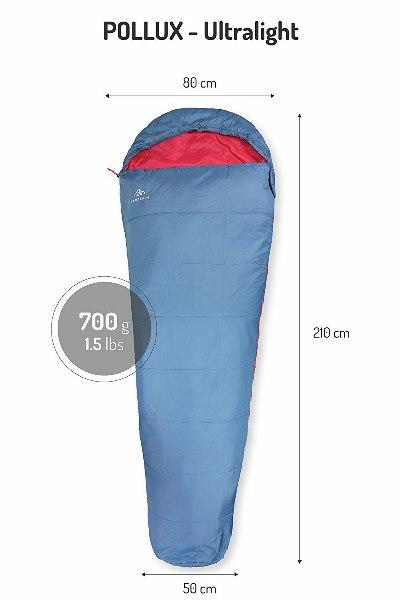 NORDKAMM – Sacco a Pelo Ultraleggero e Compatto 700 g